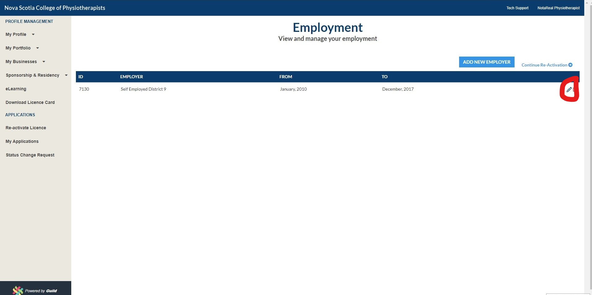 Employment Section